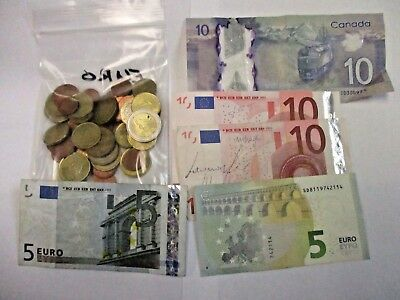 Lot Of Euro Various Dates And Conditions Coin & Paper Money