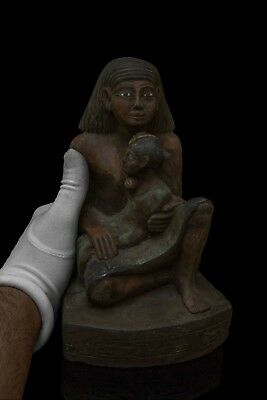 ANCIENT EGYPT ANTIQUE EGYPTIAN Statue Old Kingdom PHARAOH Carved LIMESTONE BC