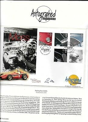 Stirling Moss Hand Signed Westminster Autographed Editions FDC Formula One F1