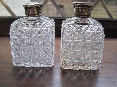 Lovely Pair Of Cut Glass Scent Bottles.