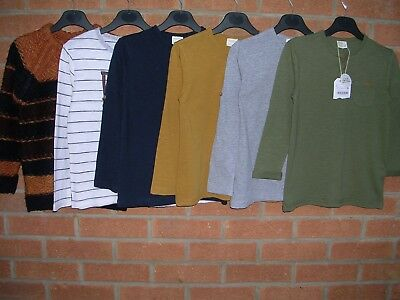 100% ZARA Boys Bundle Jumpers Longs Sleeve T-Shirts Tops Age 6 116cm Some NEW