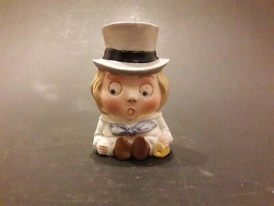 A Shafer & Vater German Bisque Comical Figure spill vase/toothpick holder