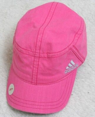 New Adidas Pink Baseball Hat Cap One Size Fits All Stretch Fit Women s UPF  ... 261488bceff8