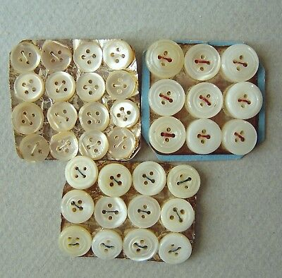 collection couture 37 anciens boutons NACRE véritable 37 mother of pearl buttons