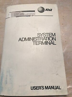 AT&T System Administration Terminal