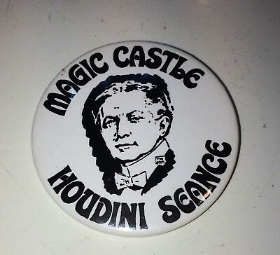 Vintage Magic Castle Hollywood Houdini Seance Button/pin Back
