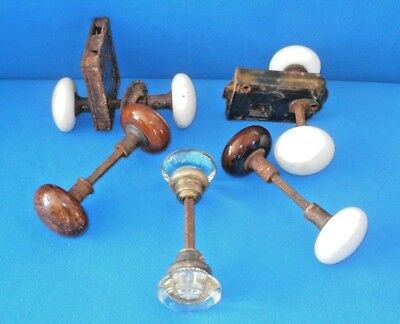 Vintage Lot of Glass & Ceramic Door Knobs and Hardware