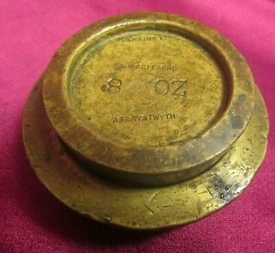 2 Vintage Graduated Brass Weights 1Lb 8Oz Jenkins Shop Fitters Aberystwyth