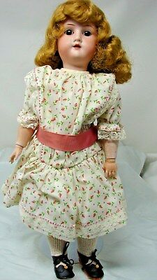 Antique Germany Doll With Bisque Head & Ball Jointed Composition
