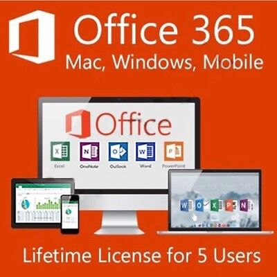 Microsoft Office 365 | Lifetime Account | 5 Devices | Windows, Mac, Mobile