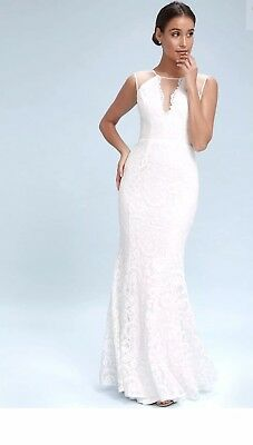 a282afc7b23 LULUS WHITE LACE Maxi Dress LARGE- BRAND NEW. Never worn -  50.00 ...