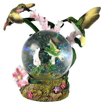 """Hummingbirds Snow Globe Dome With Figurine Inside 4.5"""" High New In Box"""