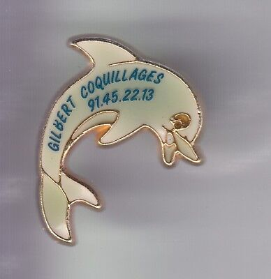 Rare Pins Pin's .. Animal Daupin Dolphin Coquillage Shell Marseille 13 ~D4