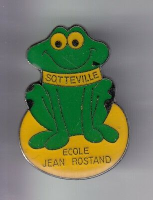 Rare Pins Pin's .. Animal Grenouille Frog Ecole School Rostand Sotteville 76 ~D4