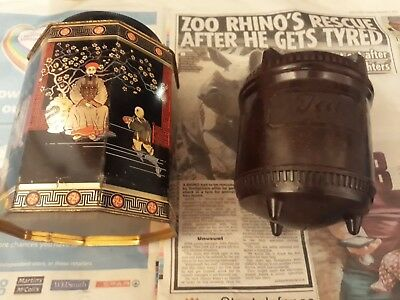 Tea Caddy Vintage Plus Japanese Tin made in england