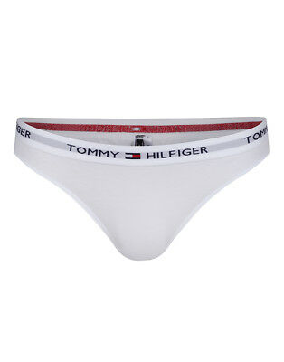 23692de73f21ec Tommy Hilfiger Iconic Cotton Womens Underwear Thong - White All Sizes