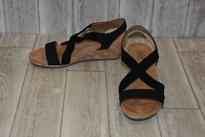 219830ca2360 LIFESTRIDE MEXICO WEDGE Sandal - Women s Size 10W Black -  23.10 ...