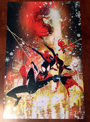 Spider-Man Into the Spider-Verse Sienkiewicz Ltd Ed Lithograph poster 11 X 17