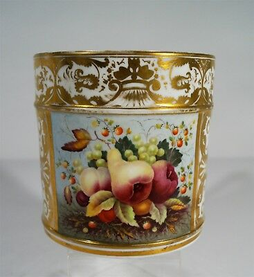 Large and Unusual Antique Royal Crown Derby1806-25 Oversize Handled Cup or Mug