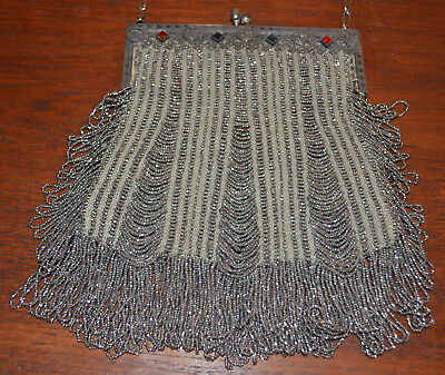 Nice Antique Micro Bead Victorian Purse Vintage