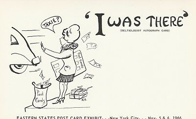 Postcard I Was There Deltiologist Autograph Card NYC NY Nov 1966 Unposted