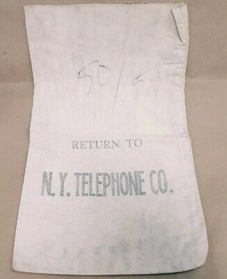 Vintage Return To New York Telephone Canvas Payphone Bag