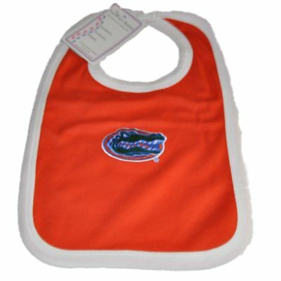 Florida Gators Two Feet Ahead Kleinkind Baby Neugeborenes Orange Strick Lätzchen