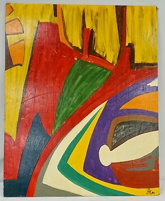 Original FRANK DIAZ ESCALET 1991 Oil on Board Artwork Painting Listed Artist