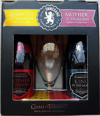Game Of Thrones Ommegang Beer Royal Reserve Collection Set Of 4 With Glass