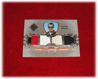 2012 Press Pass Total Memorabilia Trevor Bayne Quad Tm-Tb Race Used Nascar 33/50
