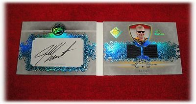 2012 Total Memorabilia Signature Collection Jeff Burton Autograph Booklet 8/10