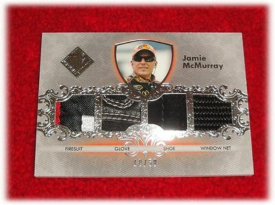 2012 Press Pass Total Memorabilia Jamie Mcmurray Quad Tm-Jm Race Used 10/50
