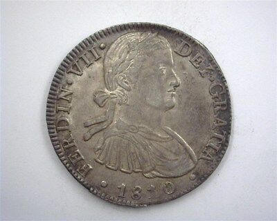 Mexico 1810-Mohj Silver 8 Reales Nearly Uncirculated Rare!