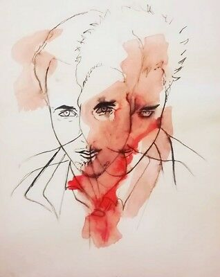 Fight club watercolor original painting