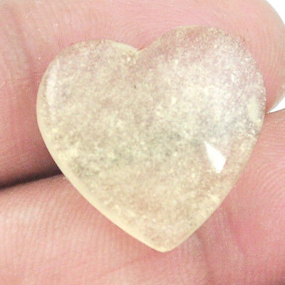 12.15cts libyan desert glass (gold tektite) 19.5x19.5 heart loose gemstone s2395