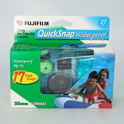 Fujifilm Quicksnap 35mm One-Time-Use Waterproof Film Camera (27 EXP) 10/2002