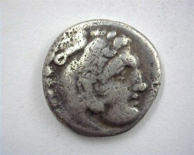 Alexander Iii The Great 336-323 Bc. Silver Drachm Choice Fine