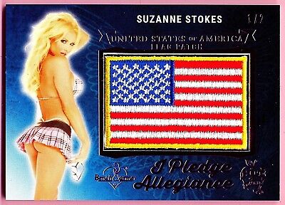 "Suzanne Stokes * Benchwarmer * Pledge Allegiance Flag Patch  ""rare"" Pink 1/2"