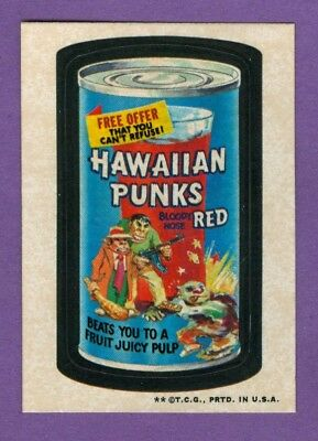 1973 Topps WACKY PACKAGES Series 3 HAWAIIAN PUNKS (tan) *Excellent-Mint*