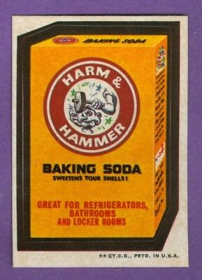 1973 Topps WACKY PACKAGES Series 3 HARM & HAMMER (tan) *NearMint*