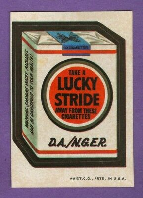 1973 Topps WACKY PACKAGES Series 3 LUCKY STRIDE (tan) *NearMint-Mint*