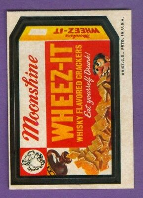 1973 Topps WACKY PACKAGES Series 3 WHEEZ-IT CRACKERS (tan) *NearMint-Mint*