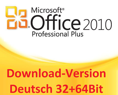 Microsoft Office Professional Plus 2010 - Downloadlink + Key Deutsch 64Bit x64