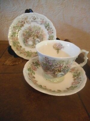 Royal Doulton ~ Brambly Hedge ~ Summer  ~ Trio ~ Cup Saucer & Side Plate  Vgc