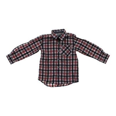 The Children's Place Boys Plaid Button-up Shirt, size 4/4T,  brown, grey