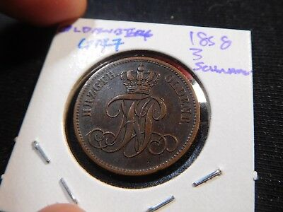 G177 German States Oldenberg 1858 3 Schwaren