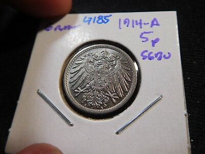 G185 Germany Empire 1914-A 5 Pfennig Superb GEM BU