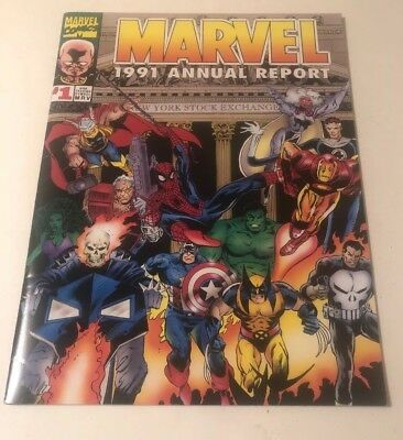 1991 Marvel Annual Report Near Mint Condition