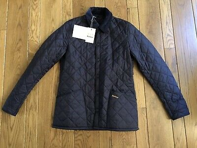 Barbour Heritage Liddesdale Quilted Corduroy Collar Jacket Navy Mens Small NWT