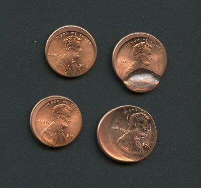 Mixed Date Lincoln Penny Errors  -- 4 COINS (AS PICTURED)